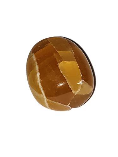 1pc Honey Calcite AA-Grade Semi-Translucent Large Tumbled & Polished Natural Crystal Gemstone from Turkey