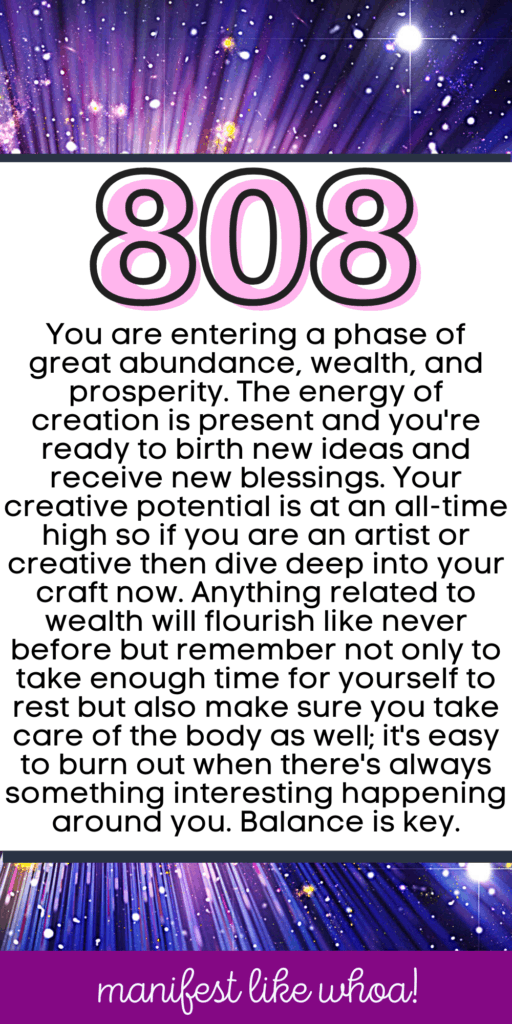 Angel Number 808 For Manifesting (Numerology Angel Numbers & Law of Attraction)