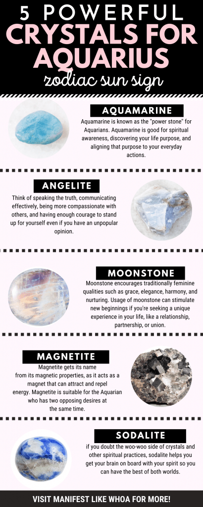 7 Best Healing Crystals for Aquarius (Zodiac Sun Sign Crystals for Manifesting & LOA)