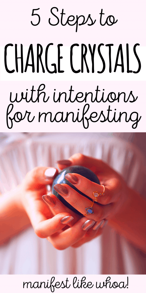 How To Charge Healing Crystals & Gemstones with Your Intentions for Manifesting & Law of Attraction
