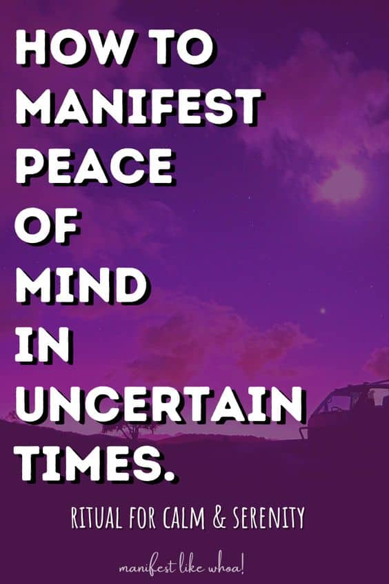 How To Manifest Inner Peace with the Law of Attraction