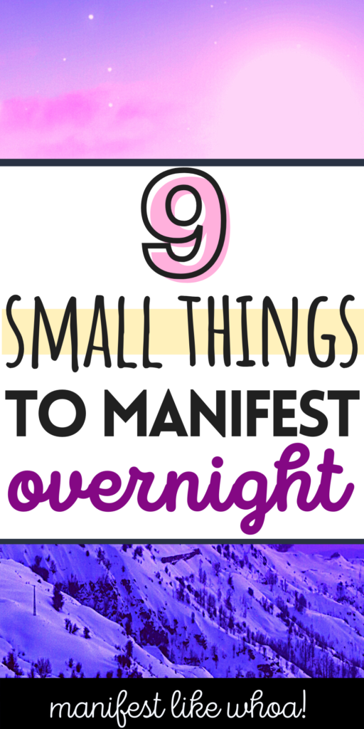 9 Small Things To Manifest For Beginners (Dream Life Manifestation Law of Attraction)