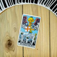 Deck of Tarot cards ; JUDGEMANT .