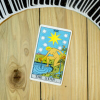 Deck of Tarot cards ; THE STAR .